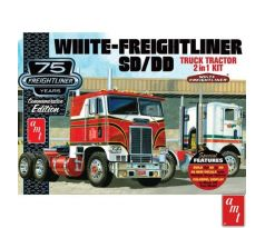 1/25 White Freightliner 2-in-1 SC/DD Cabover Tractor 75th Anniversary