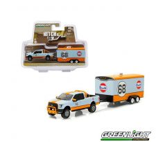1/64 2015 Ford F-150 Gulf Oil #68 and Gulf Oil Enclosed Car Hauler